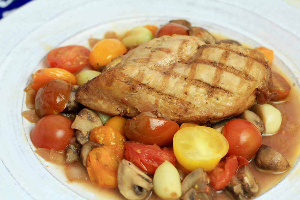 Chicken w/ Tomato and Mushroom Port Sauce – Quady Winery